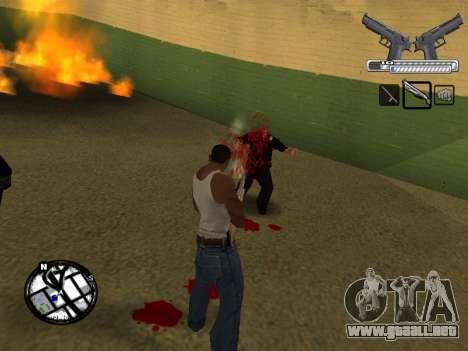 С-HUD por MoLoT para GTA San Andreas quinta pantalla