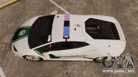 Lamborghini Huracan Cop [ELS] para GTA 4 visión correcta