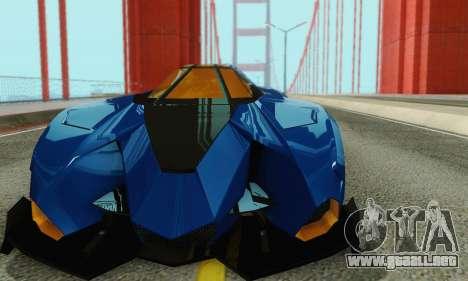 Lamborghini Egoista para vista lateral GTA San Andreas