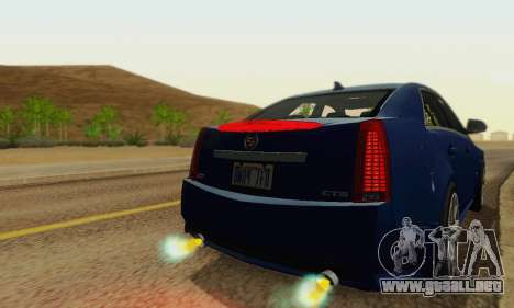Cadillac CTS-V Sedan 2009-2014 para vista inferior GTA San Andreas