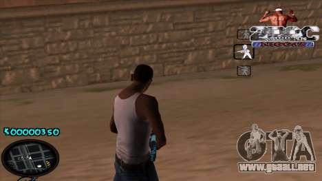 C-HUD 2PAC para GTA San Andreas segunda pantalla