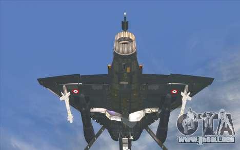 Dassault Mirage 2000-C para GTA San Andreas vista posterior izquierda