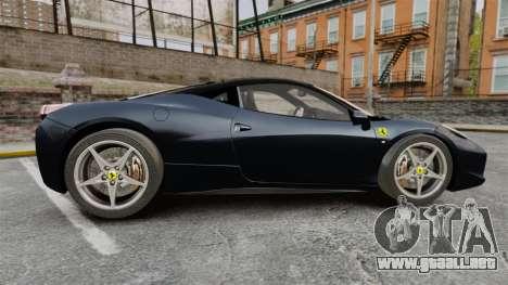 Ferrari 458 Italia para GTA 4 left