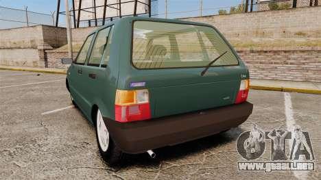 Fiat Uno para GTA 4 Vista posterior izquierda