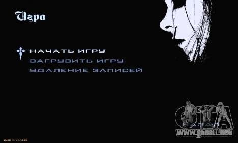 Black Metal Menu para GTA San Andreas tercera pantalla