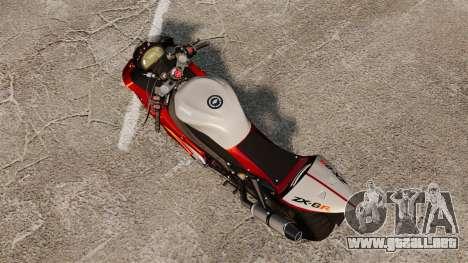 Kawasaki Ninja ZX-6R v2.0 para GTA 4 Vista posterior izquierda