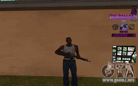 C-HUD The Ballas Gang para GTA San Andreas