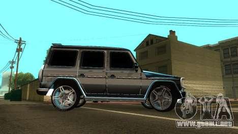 Mercedes-Benz G500 AMG V.2 para visión interna GTA San Andreas