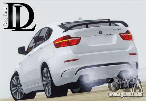 BMW X6 M 2013 Final para GTA San Andreas vista posterior izquierda