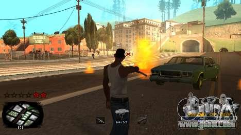 C-HUD Kings of Rap para GTA San Andreas sexta pantalla