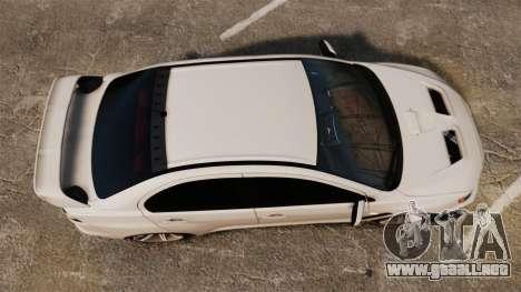 Mitsubishi Lancer Evolution X FQ400 (Cor Rims) para GTA 4 visión correcta
