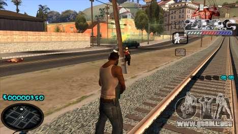 C-HUD 2PAC para GTA San Andreas sucesivamente de pantalla