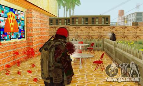 Blood On Screen para GTA San Andreas segunda pantalla