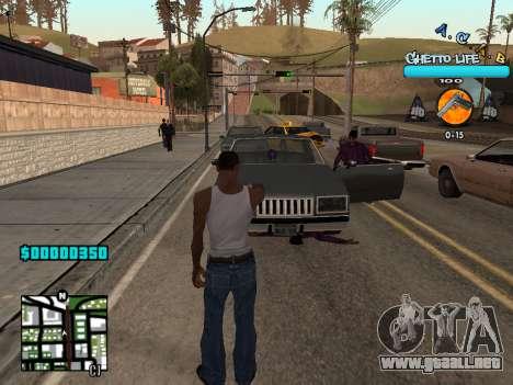 C-HUD new A.C.A.B para GTA San Andreas segunda pantalla