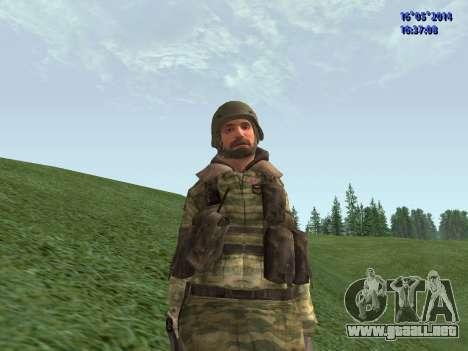 Militar en camuflaje para GTA San Andreas
