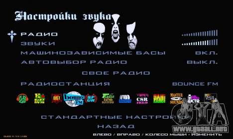 Black Metal Menu para GTA San Andreas sexta pantalla