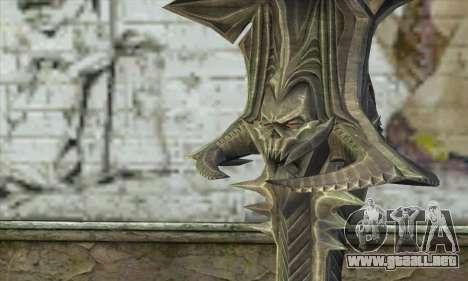 Daedric Sword para GTA San Andreas segunda pantalla