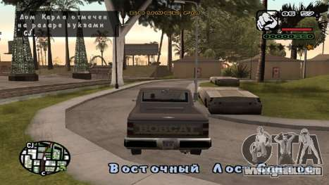 Fuente nueva V.2 para GTA San Andreas segunda pantalla