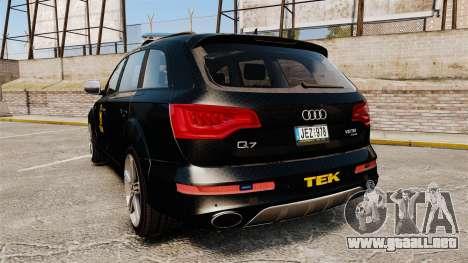 Audi Q7 TEK [ELS] para GTA 4 Vista posterior izquierda
