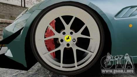 Ferrari California para GTA 4 vista hacia atrás