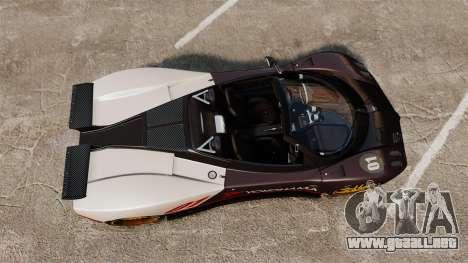 Pagani Zonda C12 S Roadster 2001 PJ4 para GTA 4 visión correcta