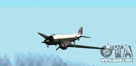 C-47 Dakota de la USAF para GTA San Andreas