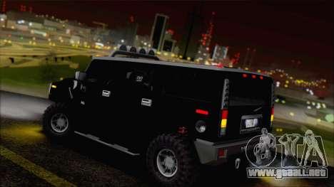 Hummer H2 Tunable para vista inferior GTA San Andreas