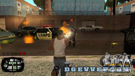 C-HUD Kings of Rap para GTA San Andreas segunda pantalla