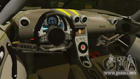 Koenigsegg One:1 [EPM] para GTA 4 vista lateral