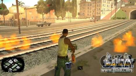 C-HUD Kings of Rap para GTA San Andreas sucesivamente de pantalla