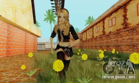 Babydoll Skin para GTA San Andreas tercera pantalla
