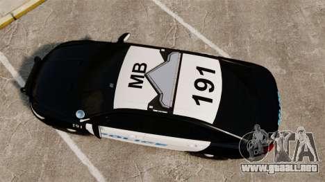 Ford Taurus Police Interceptor 2013 [ELS] para GTA 4 visión correcta