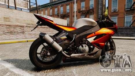 Kawasaki Ninja ZX-6R v2.0 para GTA 4 left