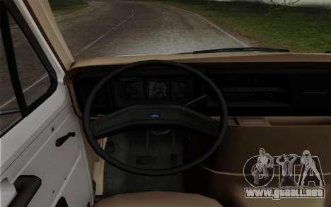 Ford E-350 1982 para GTA San Andreas vista posterior izquierda