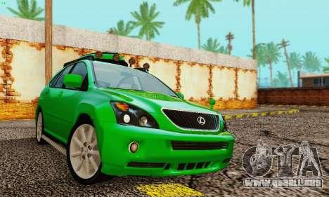 Lexus RX400h 2010 para visión interna GTA San Andreas