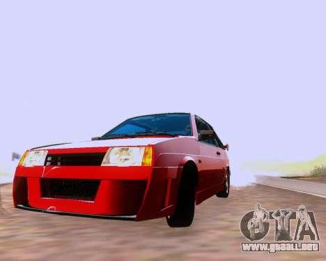 VAZ 2108 Sintonizable para GTA San Andreas interior
