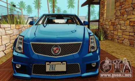 Cadillac CTS-V Sedan 2009-2014 para la vista superior GTA San Andreas