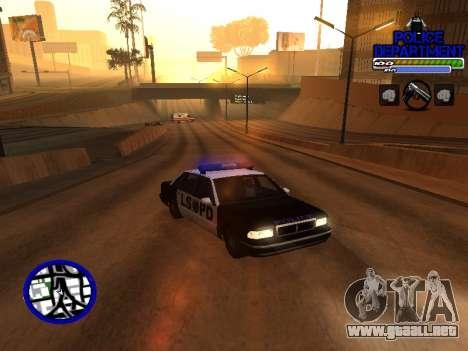 С-Hud Departamento De La Policía De para GTA San Andreas segunda pantalla