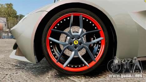 Ferrari F12 Berlinetta Novitec Rosso N-Largo para GTA 4 vista hacia atrás