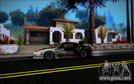 Nissan 240SX Monster Energy para la visión correcta GTA San Andreas