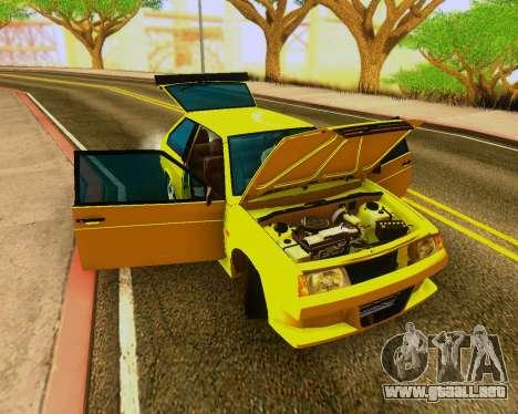 VAZ 2108 Sintonizable para GTA San Andreas vista hacia atrás