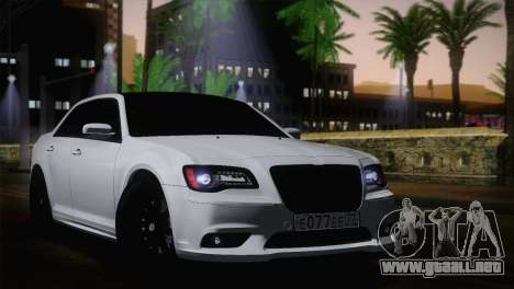 Chrysler 300 SRT8 Black Vapor Edition para GTA San Andreas vista posterior izquierda