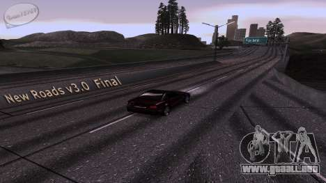 New Roads v3.0 Final para GTA San Andreas