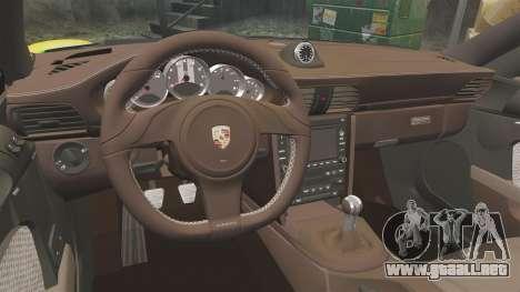 Porsche 911 Sport Classic 2010 RACE para GTA 4 vista interior
