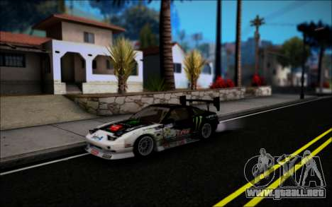 Nissan 240SX Monster Energy para GTA San Andreas left