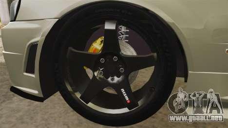 Nissan Skyline R34 Nismo Z-Tune para GTA 4 vista hacia atrás
