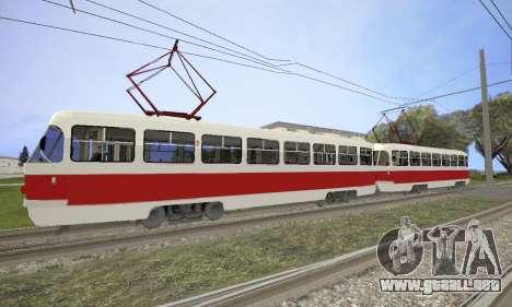 Tatra T3SU para GTA San Andreas left
