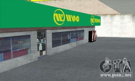El relleno en el estilo de WOG para GTA San Andreas octavo de pantalla