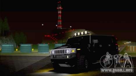 Hummer H2 Tunable para la vista superior GTA San Andreas