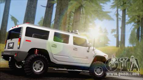 Hummer H2 Tunable para GTA San Andreas left